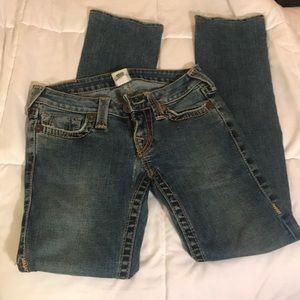 True Religion Rustic Blue Jeans Low Rise